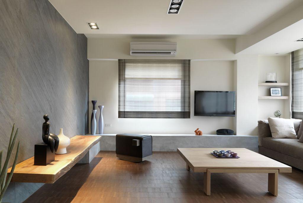 淡雅簡潔日式客廳設計