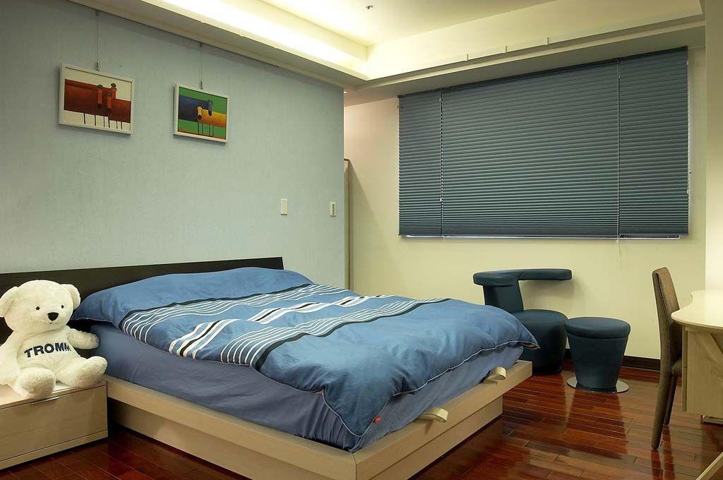 装修百科 装修效果图 装修美图 蓝色调现代儿童房软装设计 蓝色调现代