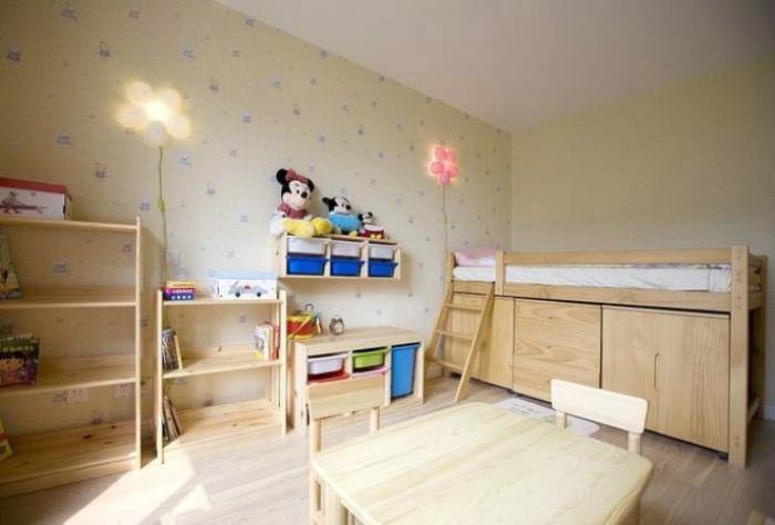 現代田園風兒童房裝飾圖