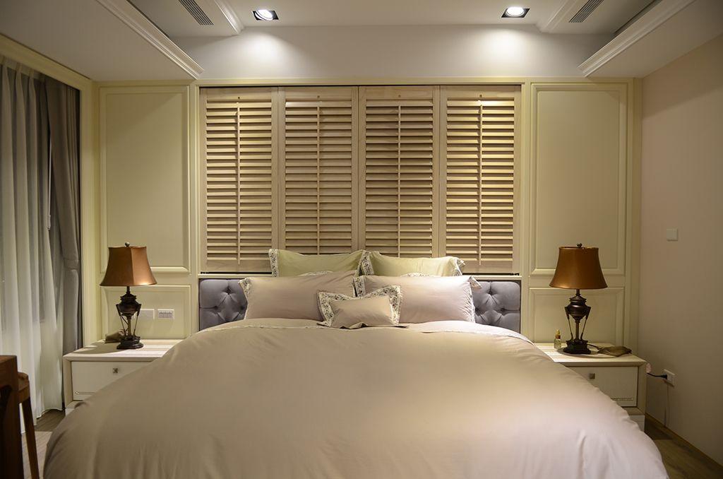 现代优雅卧室床头装修设计