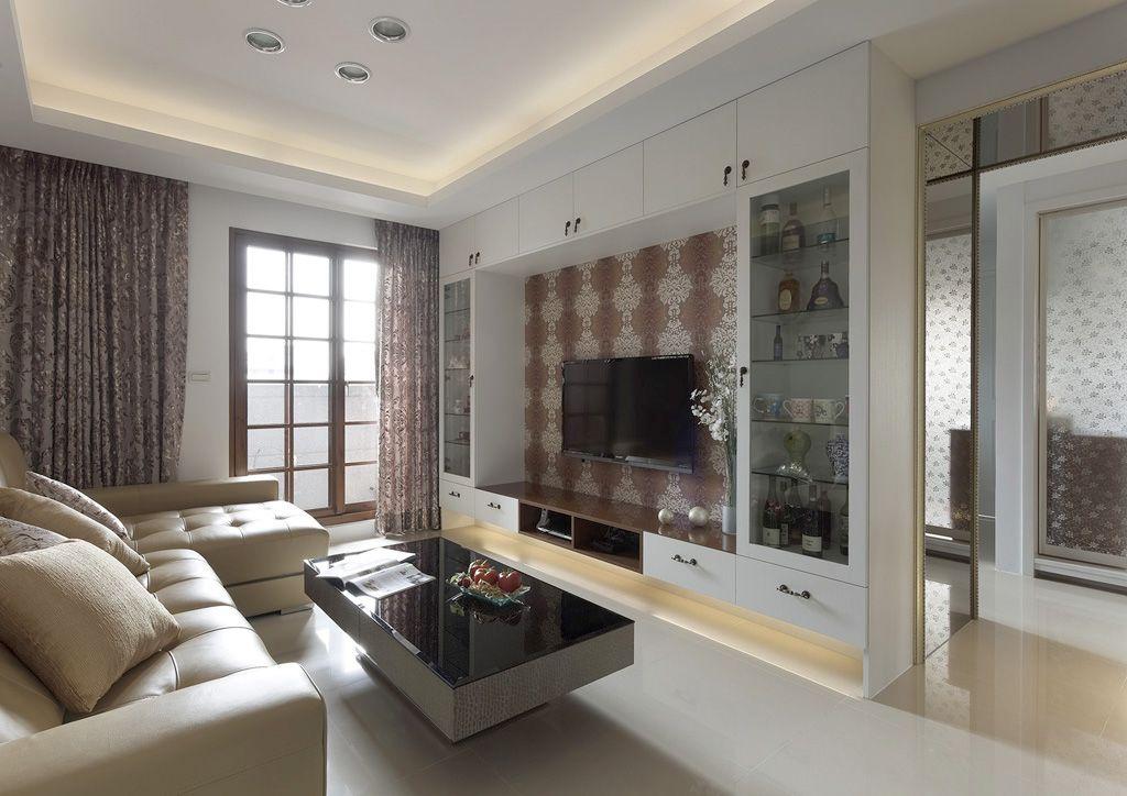 最新现代客厅电视整体柜设计_装修百科