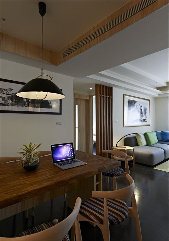 自然禅意中式 二居家装设计