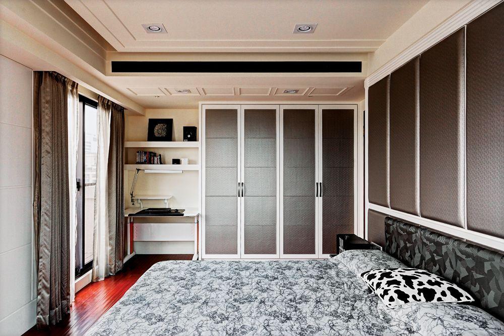 現代中式裝修臥室衣柜設計