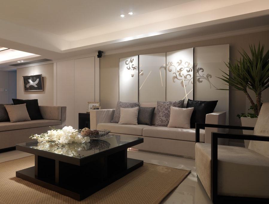 現代日式風格客廳茶幾設計