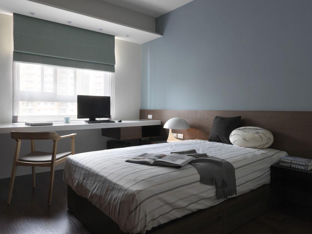 小清新现代卧室书桌台设计