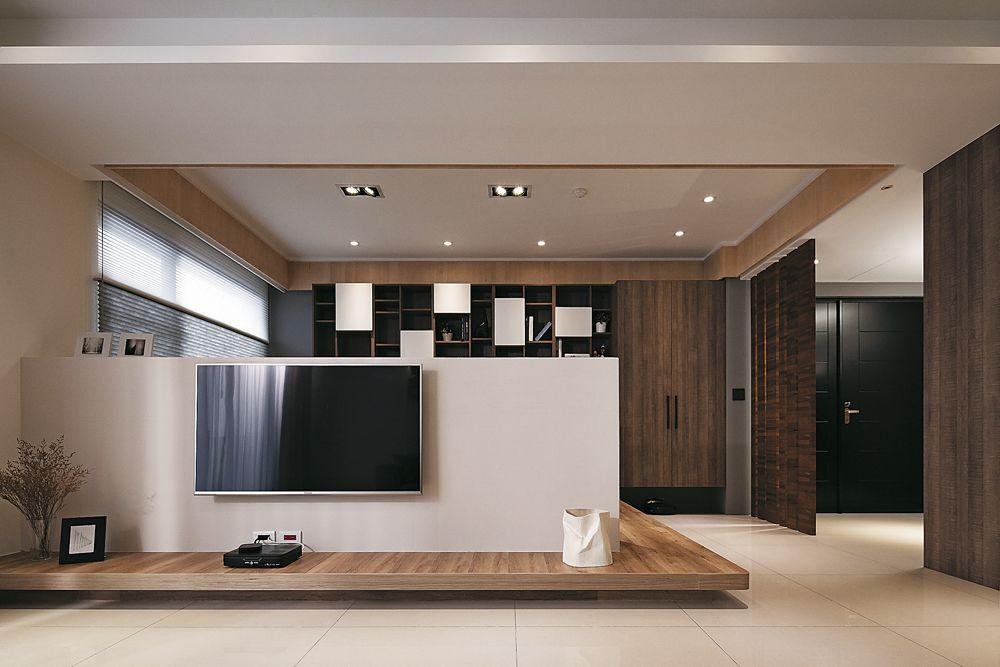 現代實木風一居室樣板房欣賞