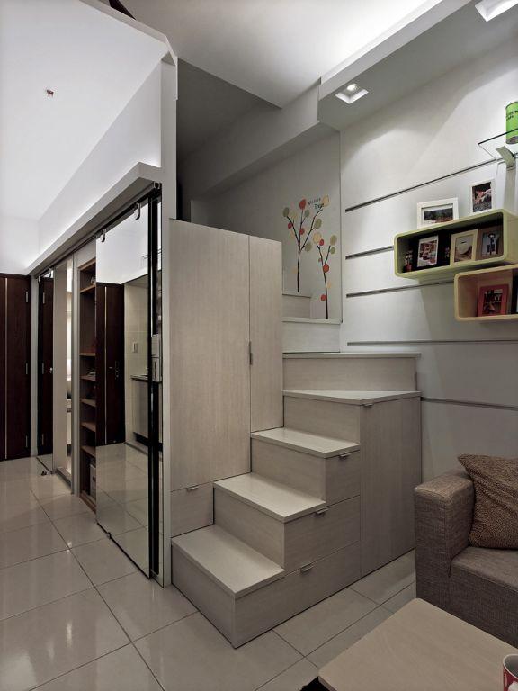 現代創意設計 室內小樓梯效果圖