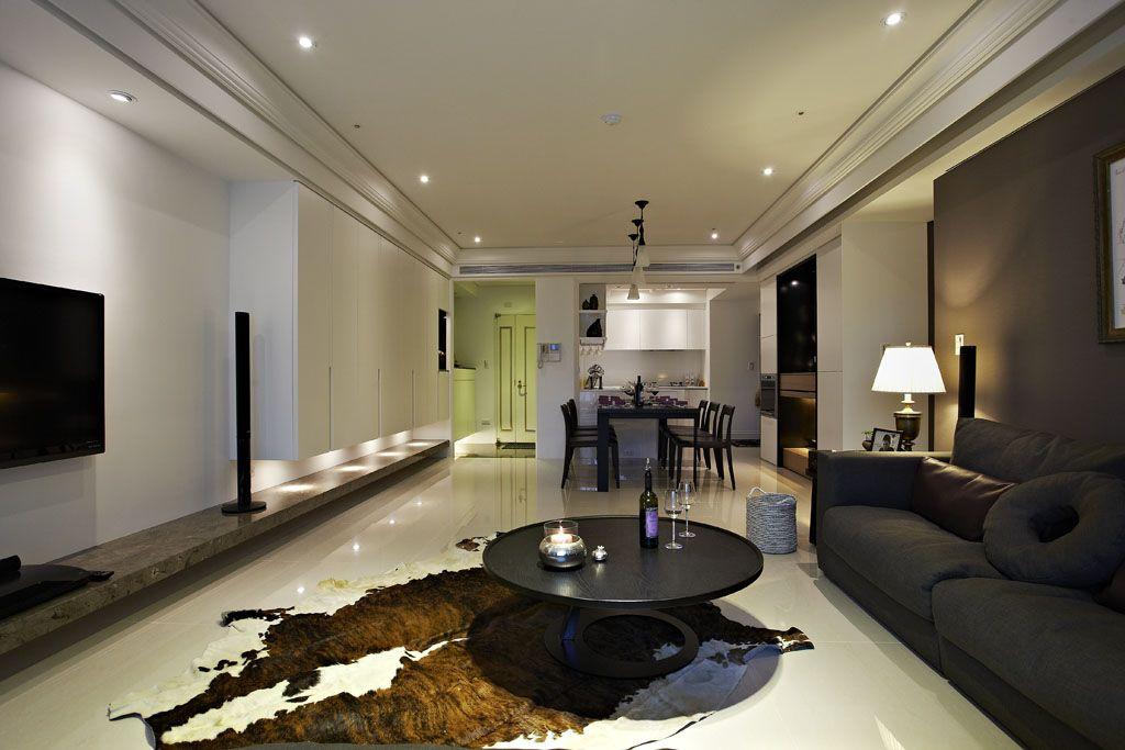 黑白現代三居室內裝飾設計