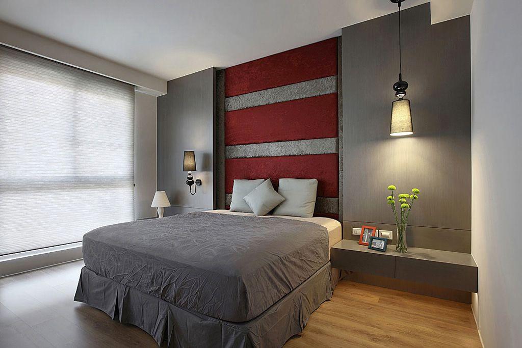 現代潮流臥室軟包背景墻設計