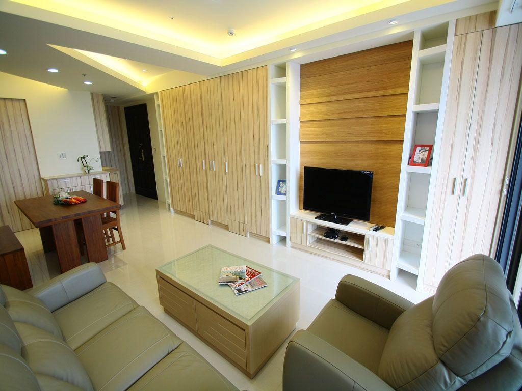 简约小户型客厅电视背景墙设计