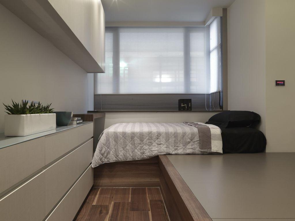 素雅现代家居卧室飘窗设计