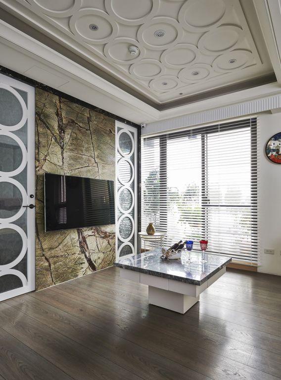 簡歐風格客廳電視背景墻設計