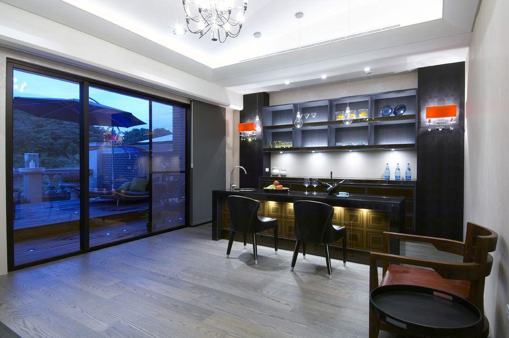 古典欧式风格 别墅室内吧台设计_装修百科