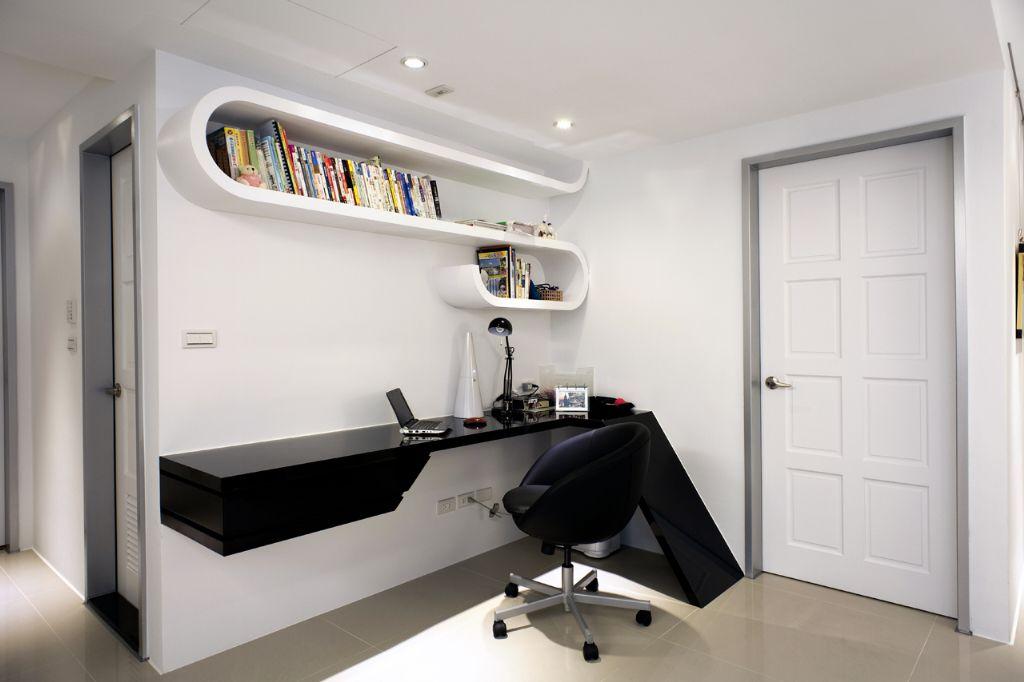 簡約創意設計書房效果圖
