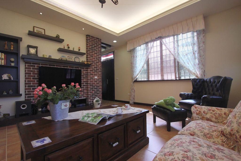 美式鄉村風三室兩廳裝修設計