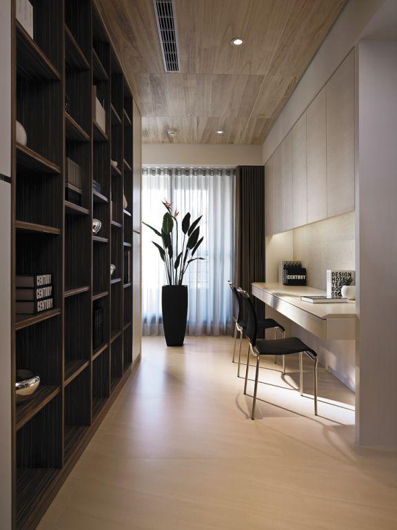 現代日式風格書房吊頂設計