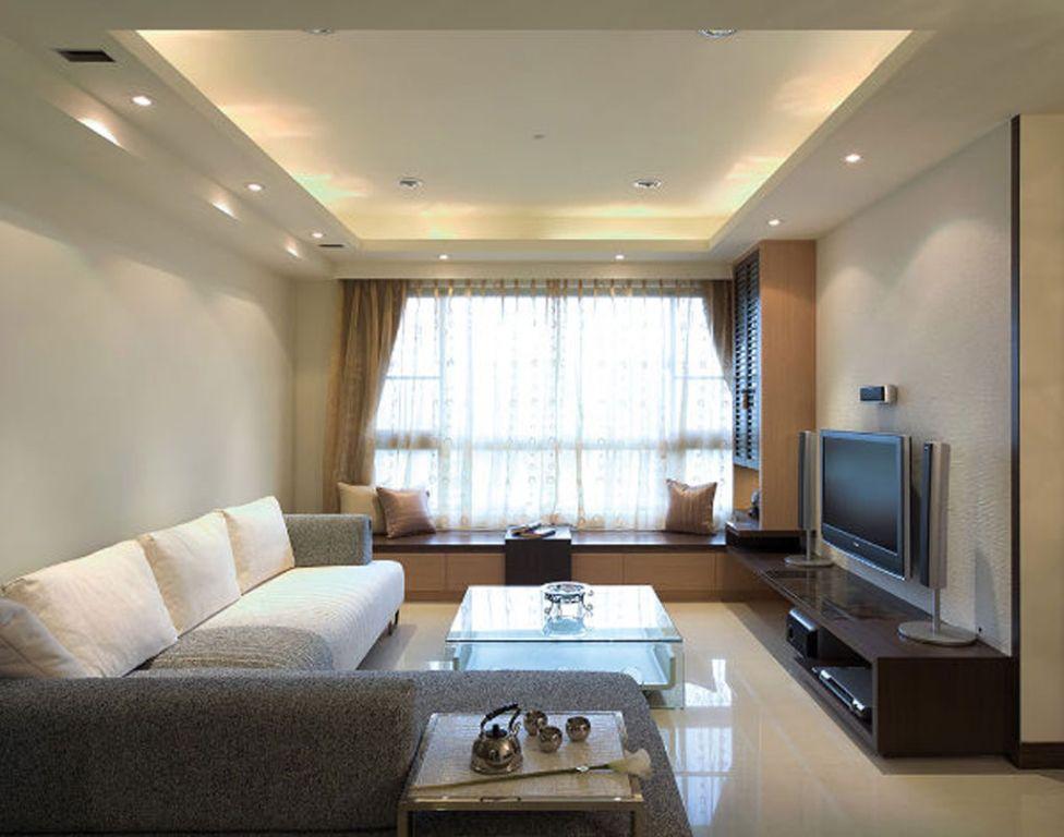 现代美式风格客厅飘窗设计