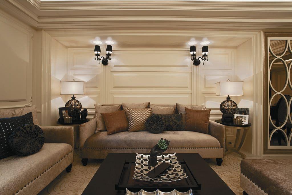 欧式风格客厅壁灯装饰图_装修百科