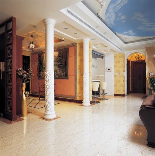 別墅室內歐式羅馬柱裝飾