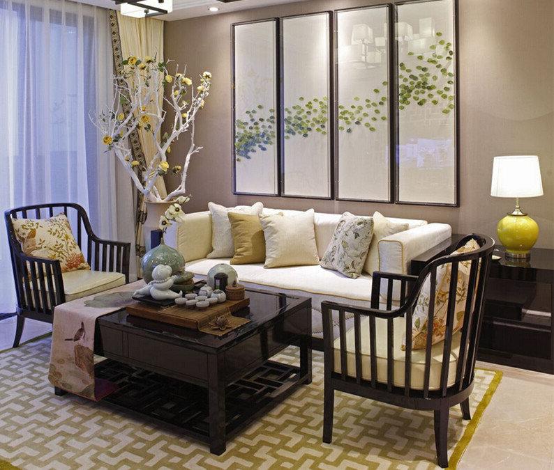 唯美小清新客厅中式风装饰