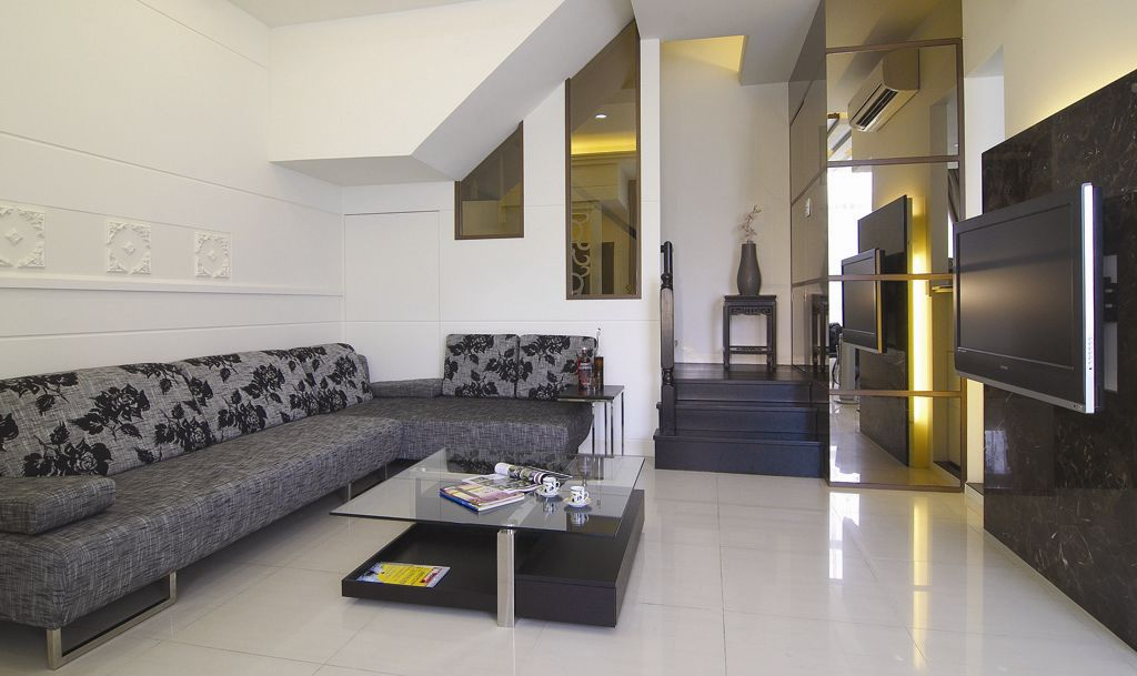 简约装修客厅沙发效果图-大别墅客厅装修效果图