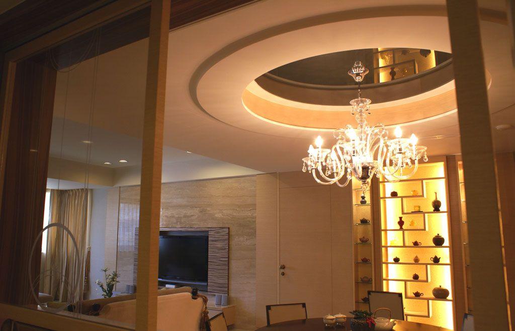 北歐風格餐廳博古架設計