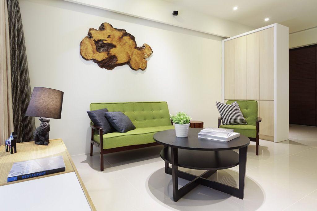 时尚现代客厅小圆桌设计_装修百科