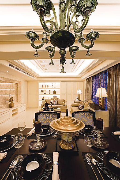 家装餐厅欧式吊灯装饰欣赏_装修百科