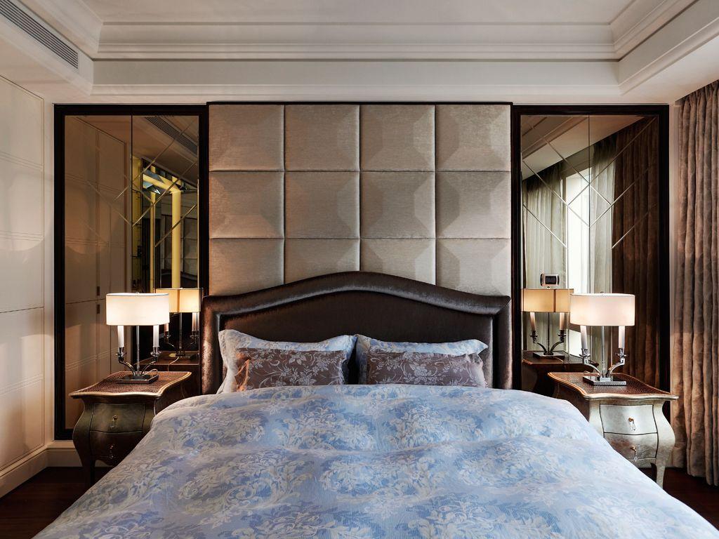 現代裝修臥室軟包背景墻設計