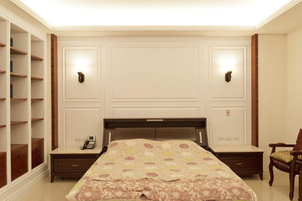 装修效果图 装修美图 现代简约卧室床头背景墙欣赏