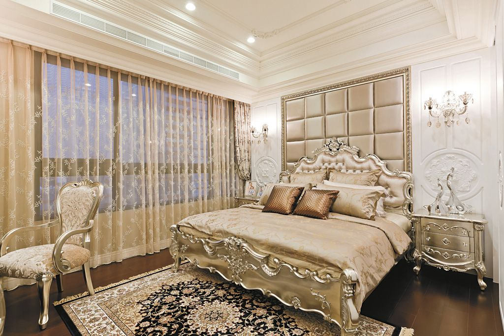 欧式奢华卧室软包床头背景墙效果图_装修百科