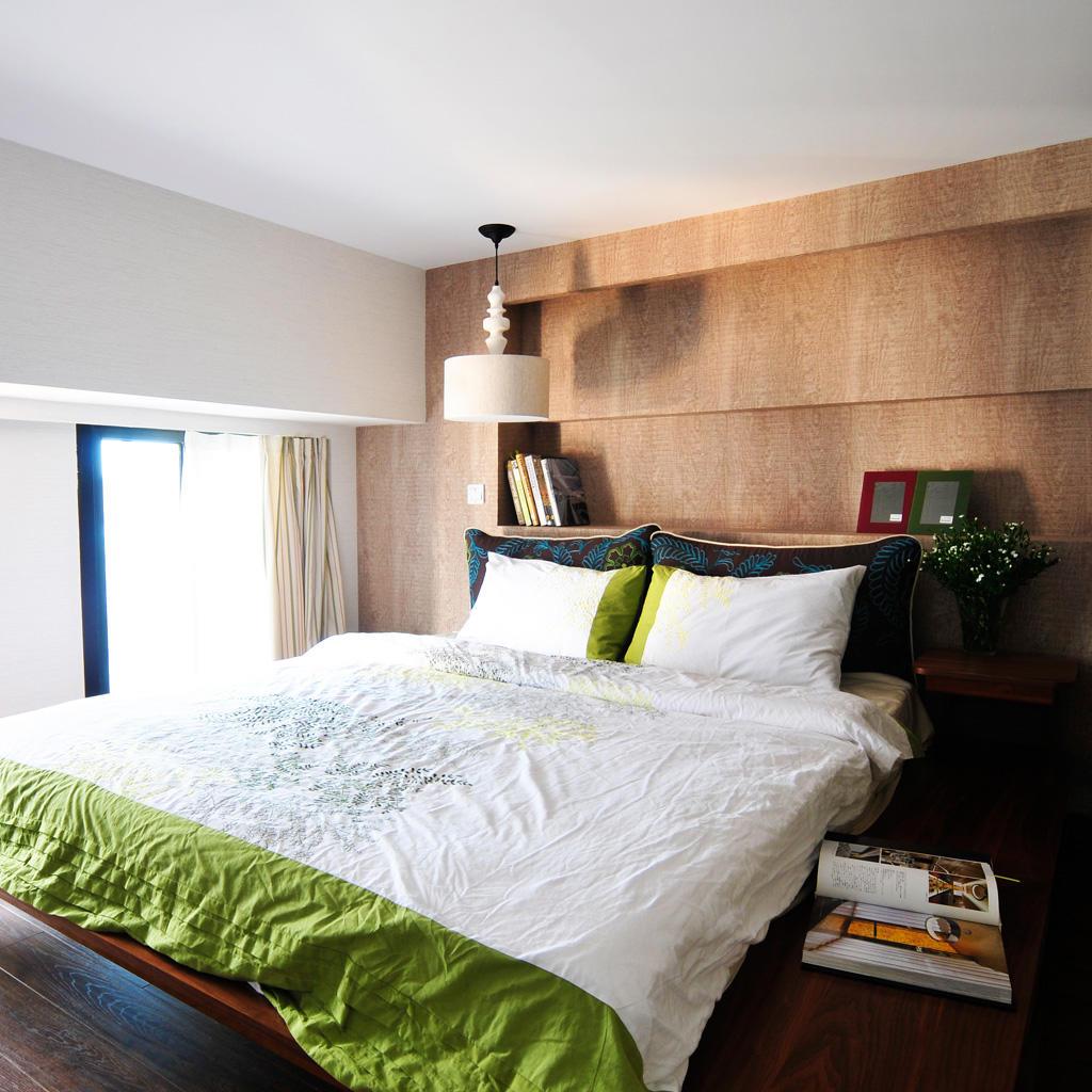北歐臥室床頭背景墻設計