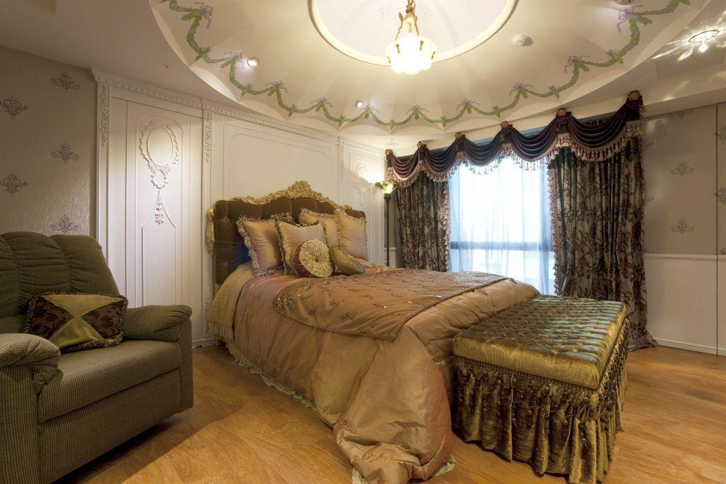 欧式宫廷风卧室软装搭配图