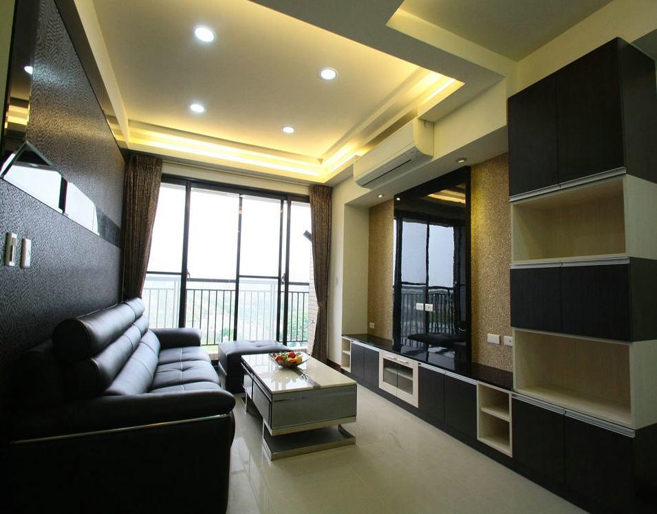 摩登黑色現代客廳裝修圖