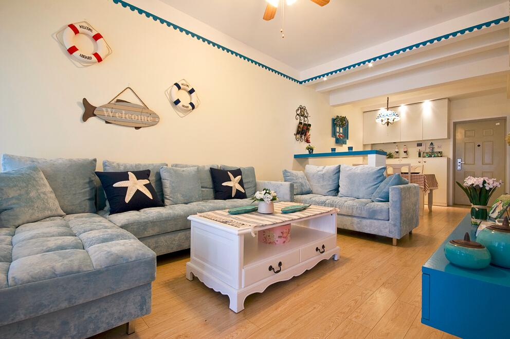 地中海風格客廳軟裝欣賞