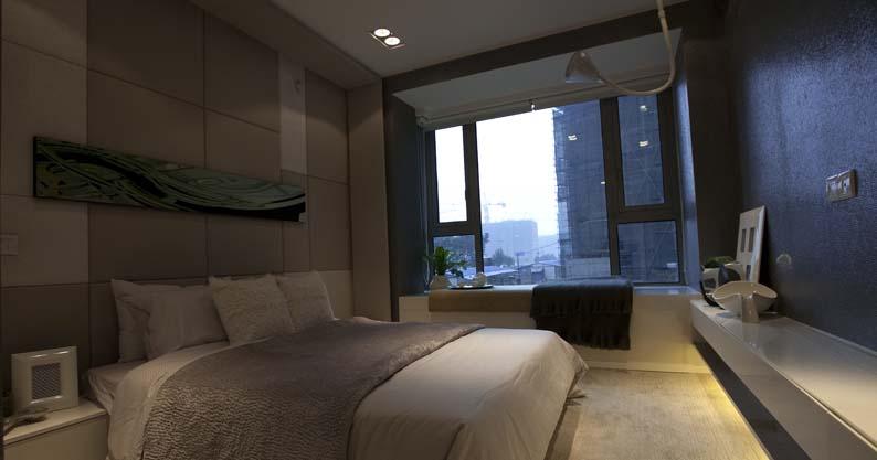简约风格卧室飘窗效果图