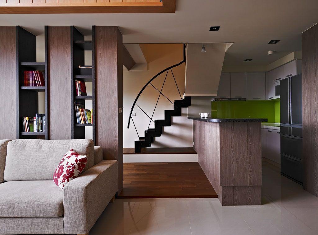 日式風格復式廚房設計裝修