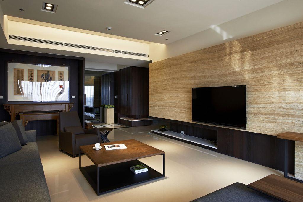 潮流现代装修 客厅电视背景墙设计