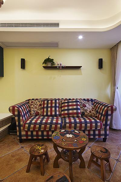 美式鄉村風一居室裝潢案例圖