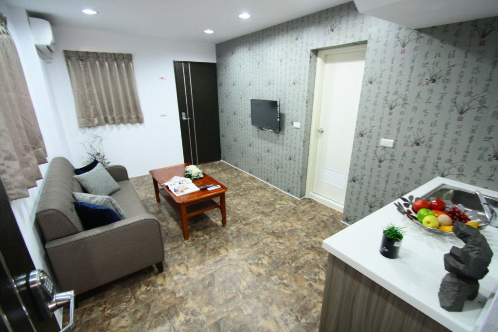 中日元素混搭 复式公寓效果图