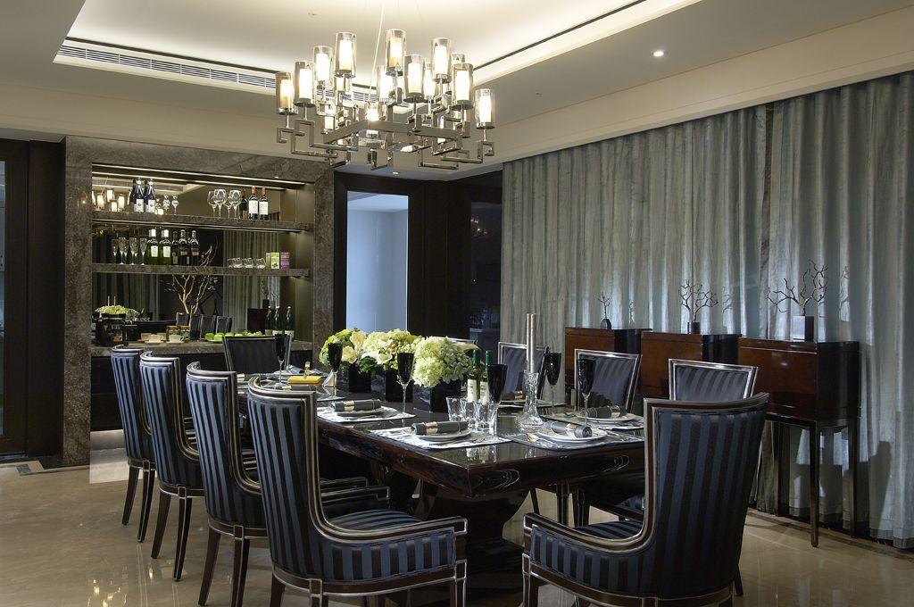 时尚现代餐厅餐边酒柜设计