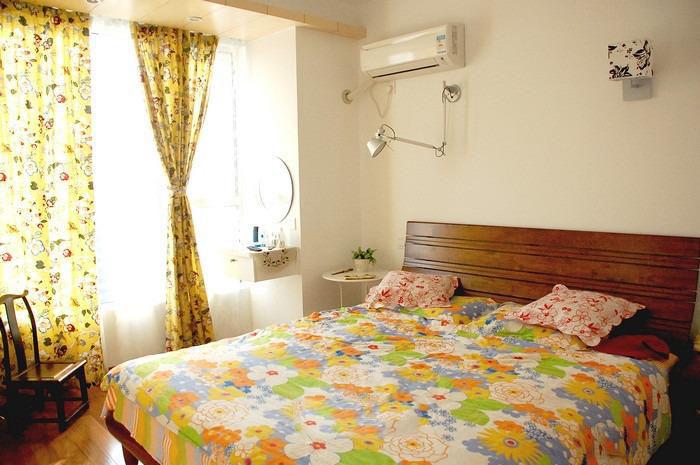 清雅日式儿童房窗帘装饰图