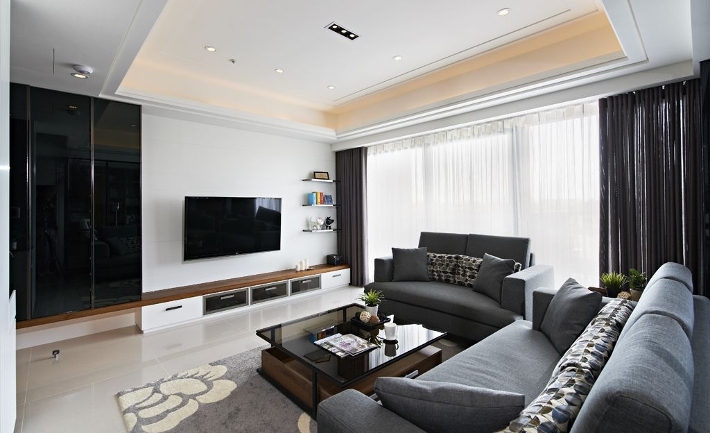 現代設計 客廳電視背景墻效果圖