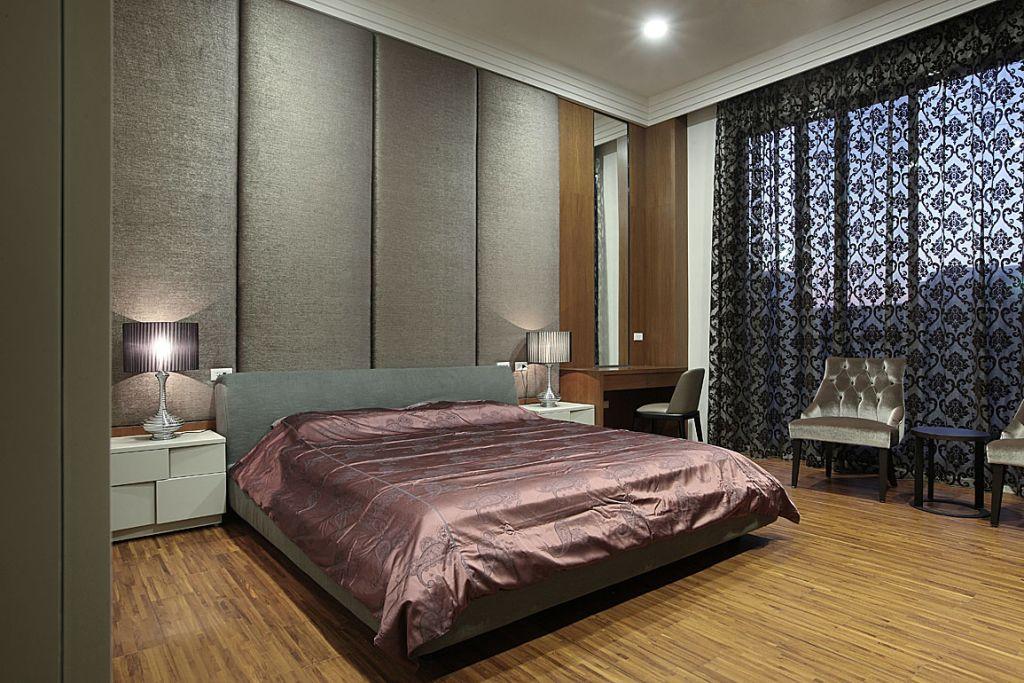 现代日式风卧室窗帘设计_装修百科