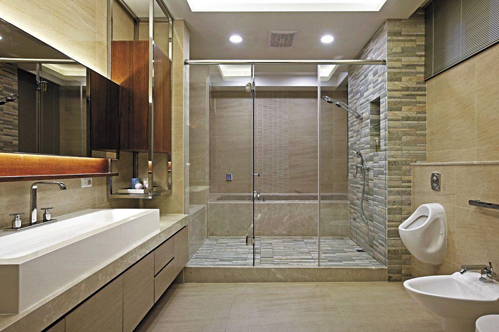 現代日式衛生間玻璃隔斷設計