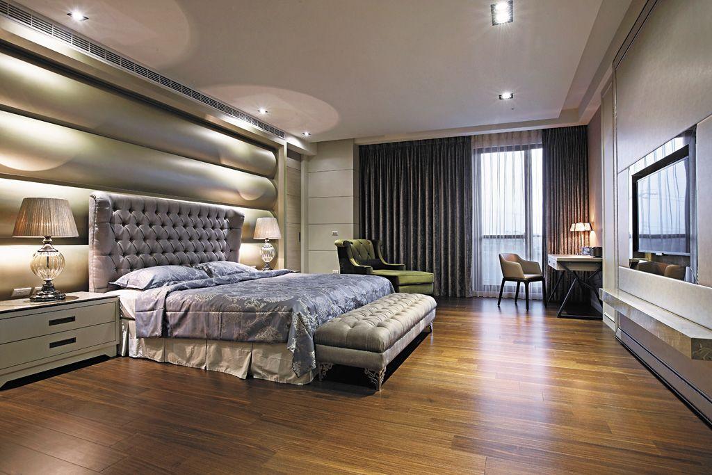 時尚現代臥室床頭背景墻裝飾