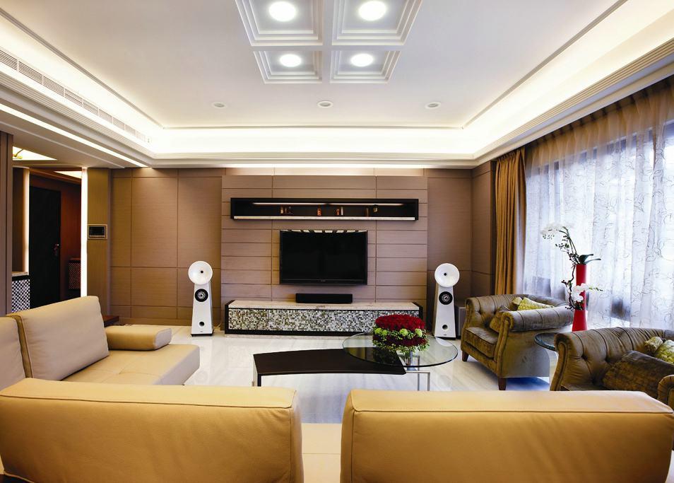 時尚現代公寓家居裝飾圖