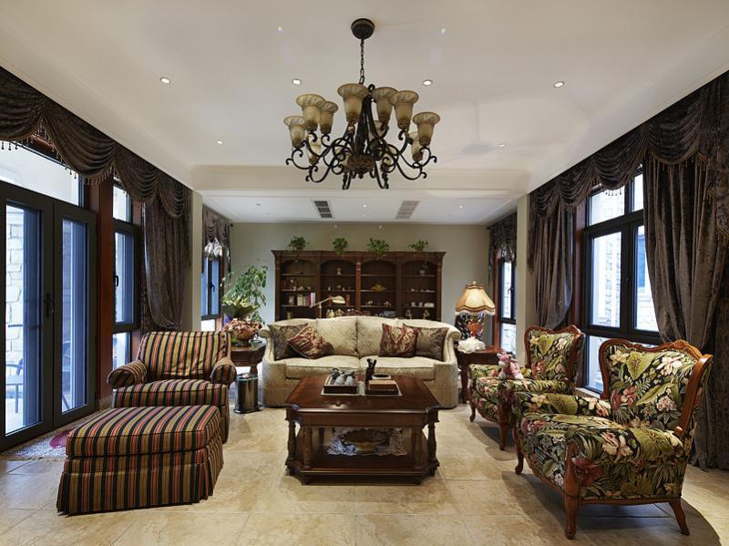 丰裕华丽欧式风格别墅室内图