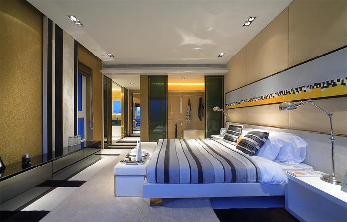 现代时尚家居主卧装修设计