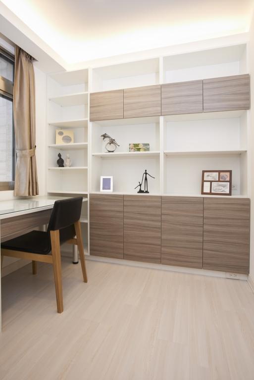 簡約現代家居書房收納柜設計